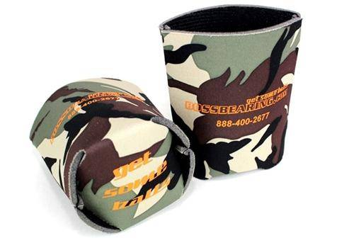 Boss Bearing - Boss Bearing Camo Koozie with logo on the side and our 'Get Some Balls' slogan on the bottom
