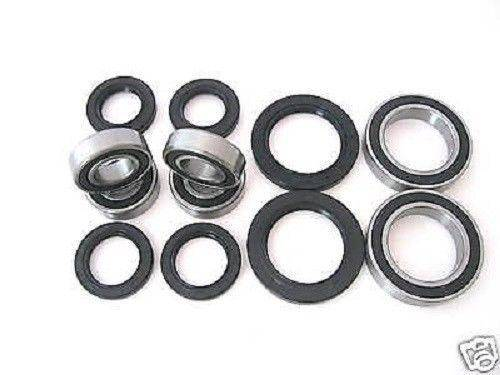 Boss Bearing - Boss Bearing Y-ATV-FR-1002 /Y-ATV-RR-1002 Combo-Pack! Front Wheel + Rear Axle Bearings and Seals Kit for Yamaha