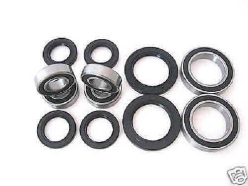 Boss Bearing - Boss Bearing Y-ATV-FR-1000-1F5/Y-ATV-RR-1001-2F2 Combo-Pack! Front Wheel + Rear Axle Bearings and Seals Kits for Yamaha
