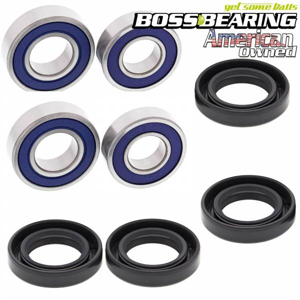 Boss Bearing - Boss Bearing Front Wheel Bearings and Seals Combo Kit for Honda