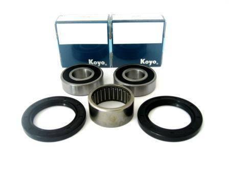 Boss Bearing - Boss Bearing 41-6166BP-8K4-B Premium Rear Wheel Bearings Seals Kit for Yamaha