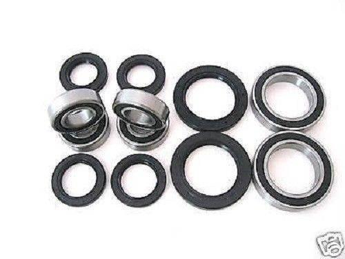 Boss Bearing - Boss Bearing H-ATV-FR-1000-1F1/H-ATV-RR-1000-2F1 Combo-Pack! Front Wheel Plus Rear Axle Bearings and Seals Kits for Honda