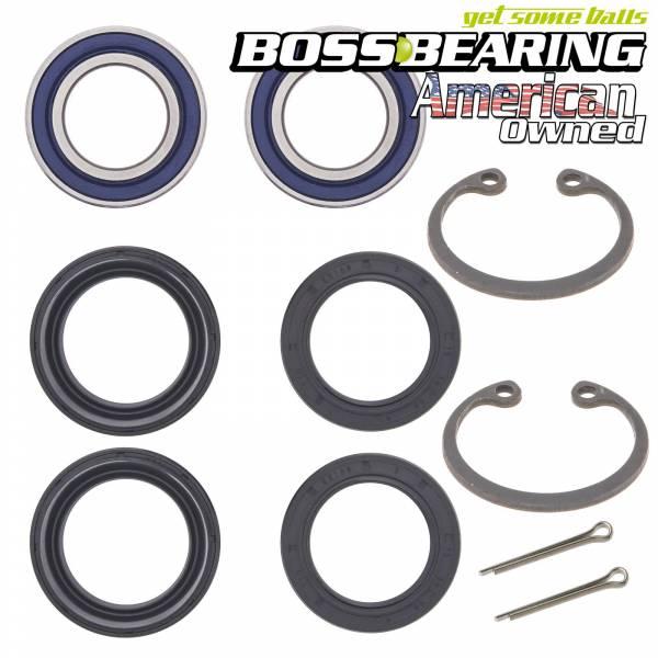Boss Bearing - Boss Bearing Both Front Wheel Bearings Seals Kit for Honda