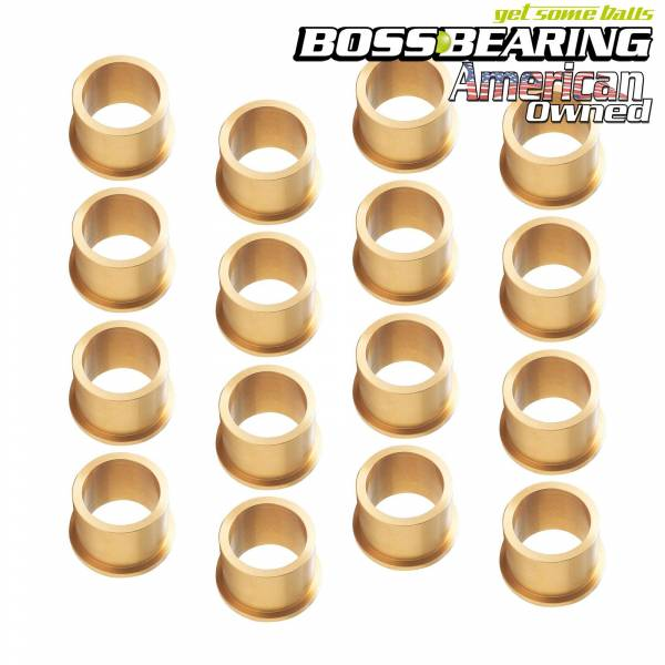 Boss Bearing - Upgraded Bronze A Arm Bushings (16) for Yamaha Warrior 350 YFM350X 1987-2004