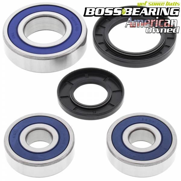 Boss Bearing - Boss Bearing Premium Rear Wheel Bearings Seals Kit for Kawasaki