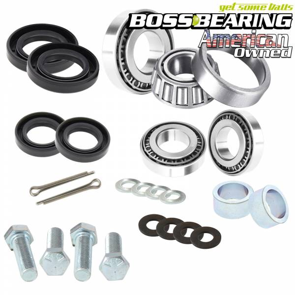 Boss Bearing - Boss Bearing Upgrade Tapered Front Wheel Bearings Seals Kit for Honda