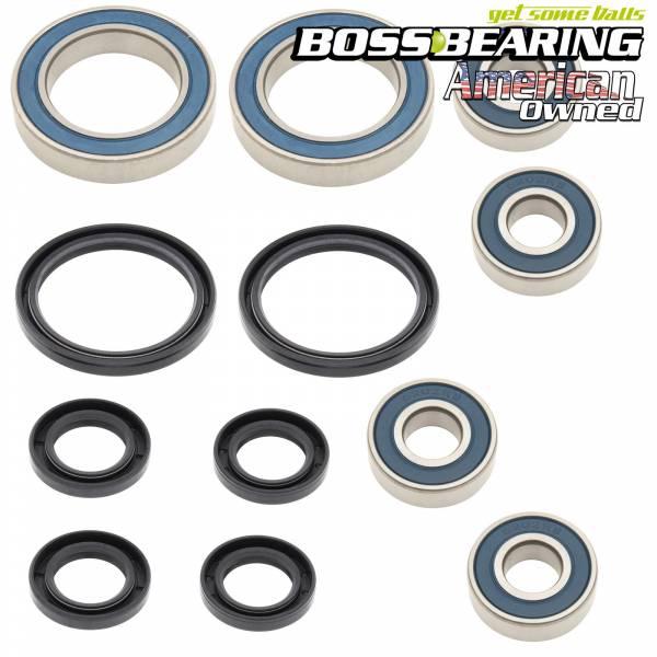 Boss Bearing - Boss Bearing H-ATV-FR-1001-1F2/H-ATV-RR-1000-2E1 Combo Pack! Front Wheel and Rear Axle Bearings and Seals Kits for Honda
