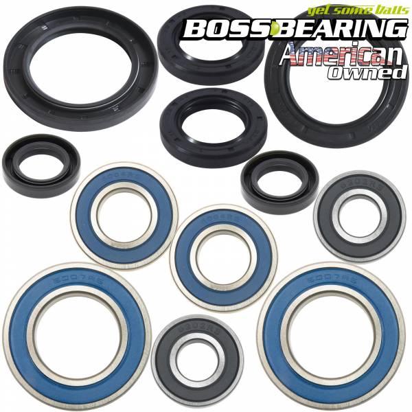 Boss Bearing - Boss Bearing Y-ATV-FR-1000-1F5/Y-ATV-RR-1000-2F1-1 Combo Pack! Front Wheel + Rear Axle Bearings and Seals Kit