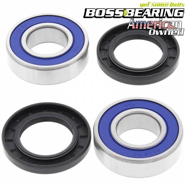 Boss Bearing - Boss Bearing 41-6282B-8J4-A Front Wheel Bearings and Seals Kit for Suzuki