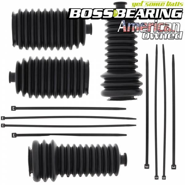 Boss Bearing - Boss Bearing Steering  Replacement Rack Boot Combo Kit for Polaris