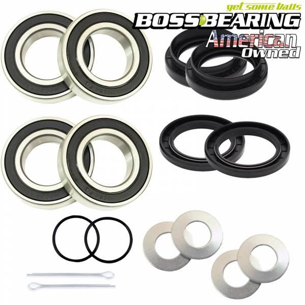 Boss Bearing - Boss Bearing Both Front Wheel Bearings and Seals Kit for Suzuki and Yamaha