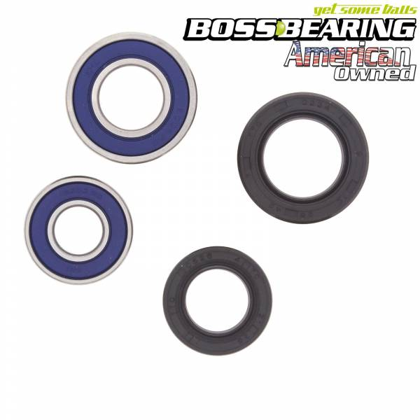 Boss Bearing - Boss Bearing Front Wheel Bearings and Seals Kit for Suzuki