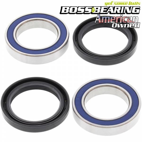 Boss Bearing - Boss Bearing Rear Axle Bearings Seals Kit Lonestar Double Dual Twin Row for Honda