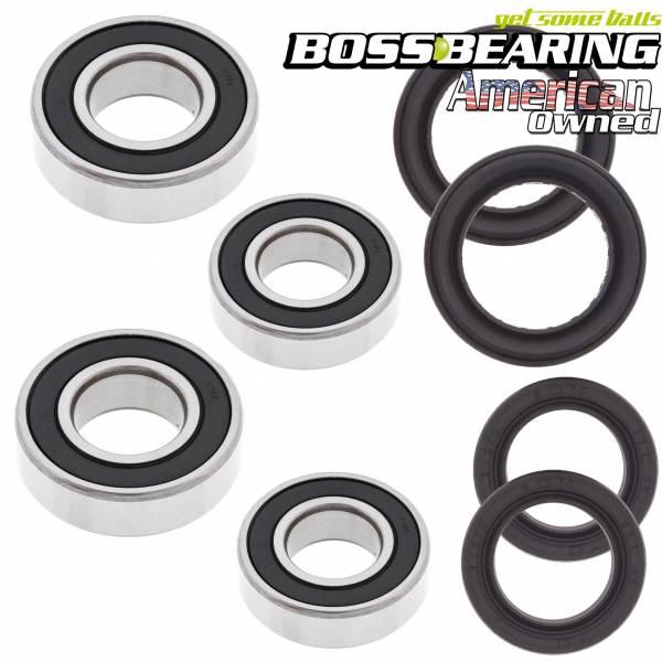 Boss Bearing - Boss Bearing Both Front Wheel Bearings and Seals Kit for Honda