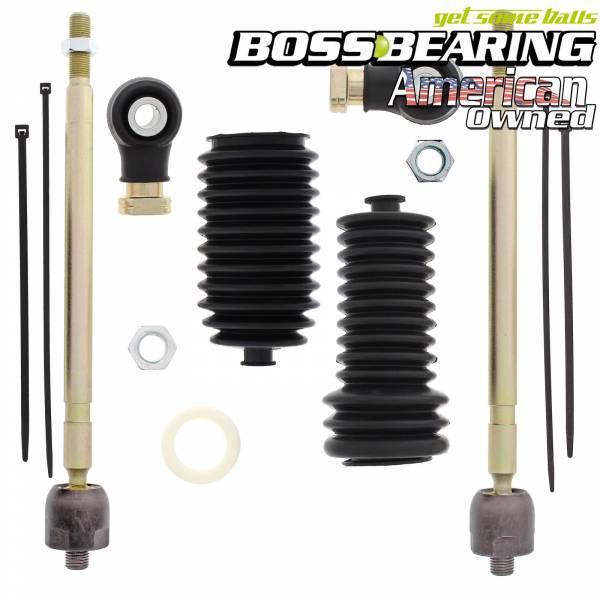 Boss Bearing - Right and Left Side Steering  Rack Tie Rod Combo Kit for Polaris