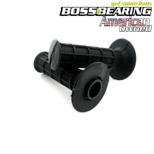 """Boss Bearing - Boss Bearing 42-24650 black Black Universal Rubber Hand Grips 7/8"""" ATV Handlebar"""
