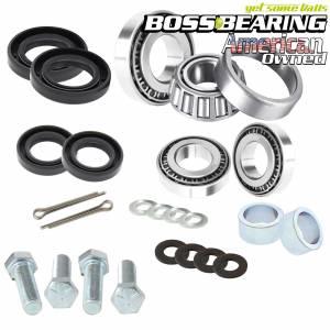 Boss Bearing - Boss Bearing Upgrade Tapered Front Wheel Bearings Seals Kit for Honda - Image 1