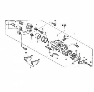 Boss Bearing - Boss Bearing Rear Caliper Rebuild Kit for Honda - Image 3